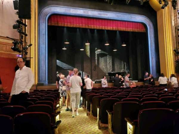 St. James Theatre, section: Orchestra L, row: M, seat: 1