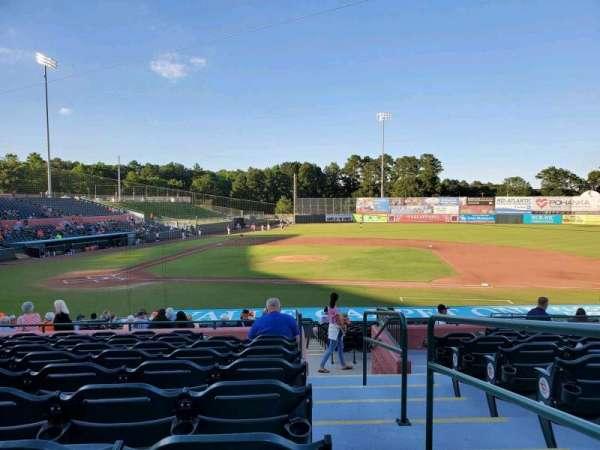 Arthur W. Perdue Stadium, section: 208, row: KK, seat: 1