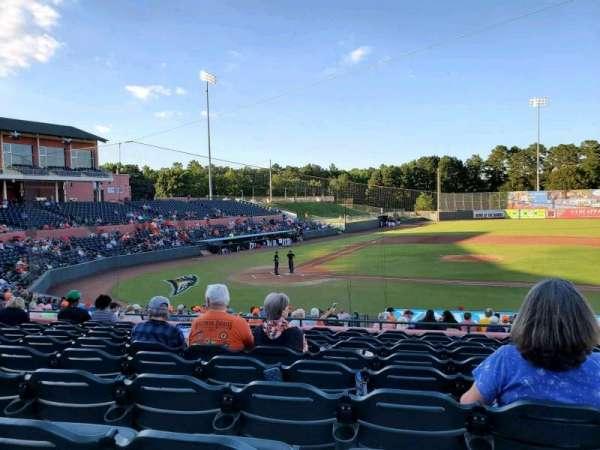 Arthur W. Perdue Stadium, section: 208, row: KK, seat: 7