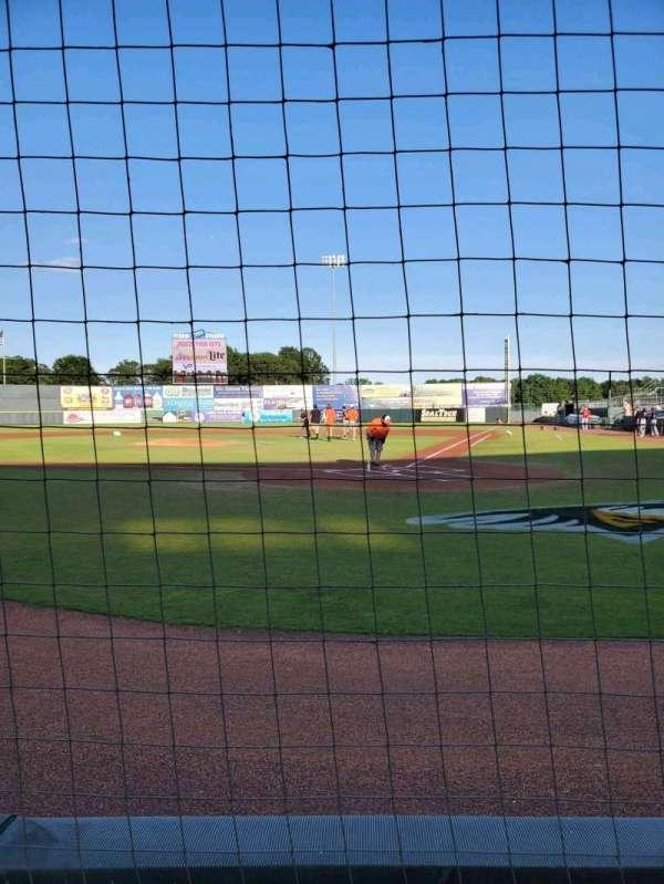 Arthur W. Perdue Stadium, section: 105 Field Box, row: A, seat: 2
