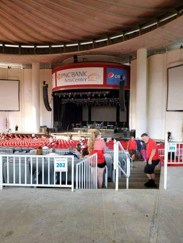 PNC Bank Arts Center, section: 301, row: A, seat: 2