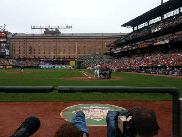 Oriole Park at Camden Yards, section: 46, row: 1, seat: 8
