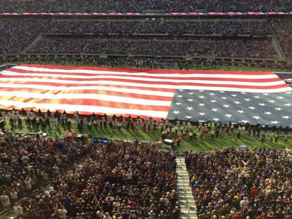U.S. Bank Stadium, section: C2, row: 1, seat: 4