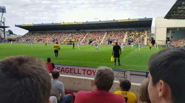Vicarage Road, section: LGT5, row: B, seat: 212
