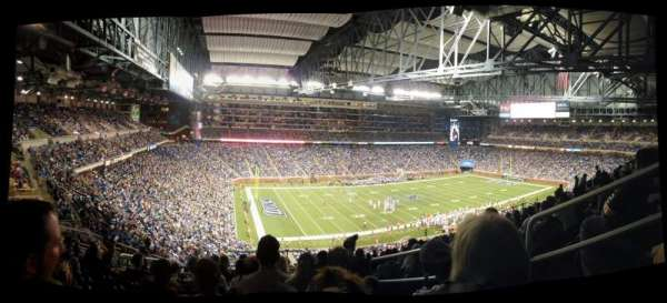 Ford Field, section: 326, row: 13, seat: 25