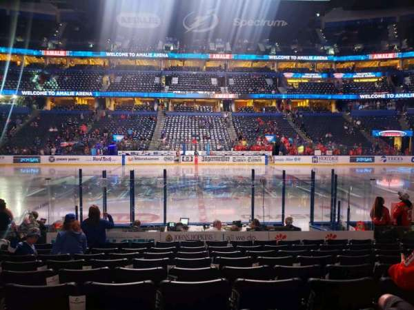 Amalie Arena, section: 116, row: L, seat: 11