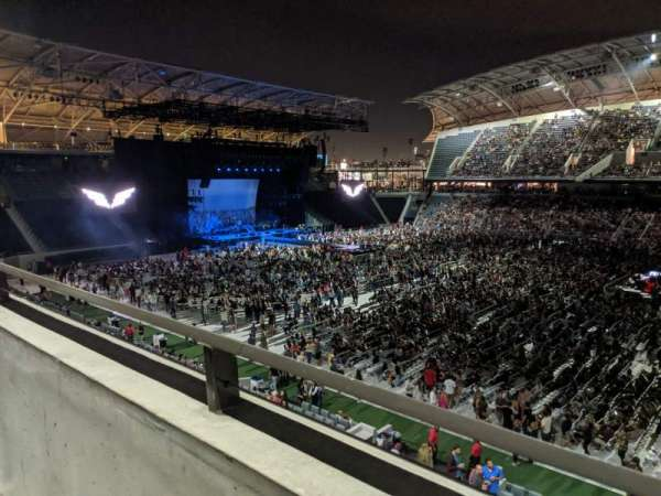 Banc of California Stadium, section: Founders Club B, row: A, seat: 14