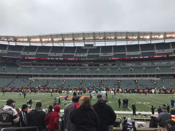 Paul Brown Stadium, section: 139, row: 8, seat: 4