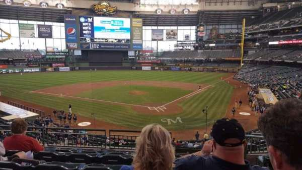 Miller Park, section: 220, row: 6, seat: 1