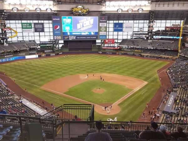 Miller Park, section: 423, row: 16, seat: 17