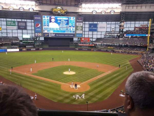 American Family Field, section: Club Infield Box 331, row: 2, seat: 2