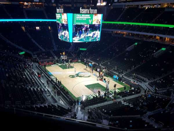 Fiserv Forum, section: 203, row: 4, seat: 12