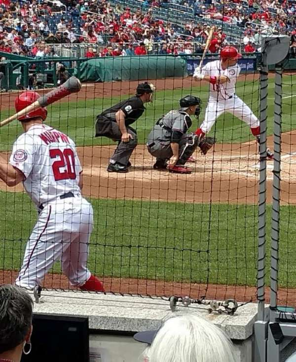 Nationals Park, section: 127, row: H, seat: 4