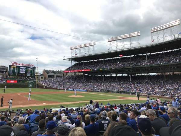 Wrigley Field, section: 110, row: 9, seat: 4