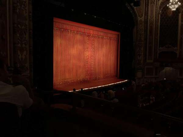 Cadillac Palace Theater, section: Dress Circle L, row: DD, seat: 5