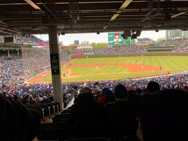 Wrigley Field, section: 222, row: 18, seat: 2