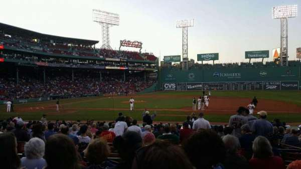 Fenway Park, section: Loge Box 113, row: EE, seat: 1