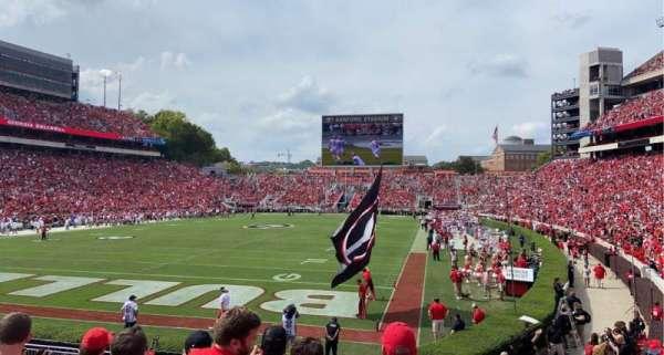 Sanford Stadium, section: 117, row: 18, seat: 11