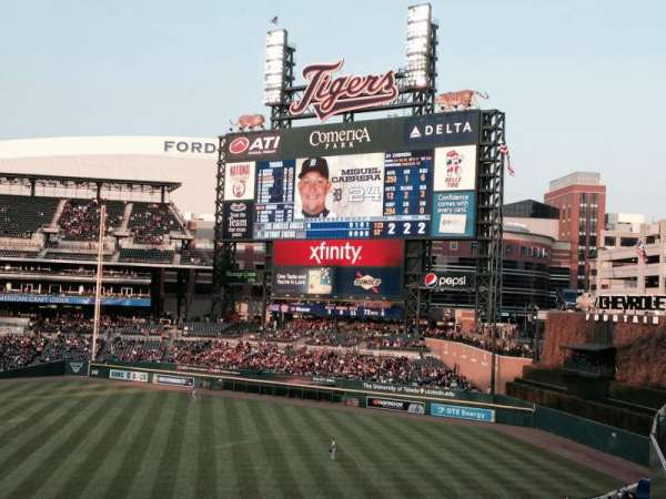 Comerica Park, section: Pepsi Porch, row: 1, seat: 8
