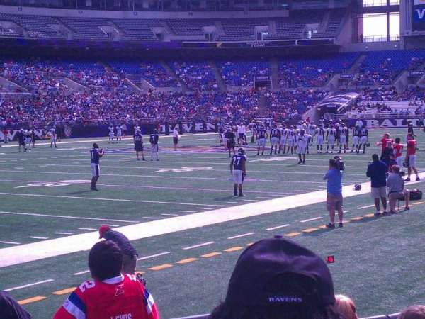 M&T Bank Stadium, section: 132, row: 10, seat: 5