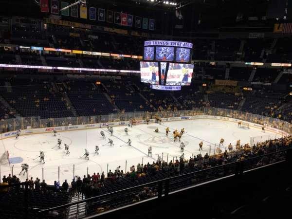 Bridgestone Arena, section: 213, row: F, seat: 17