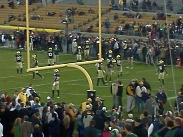 Notre Dame Stadium, section: 3, row: 31, seat: 1 And 2