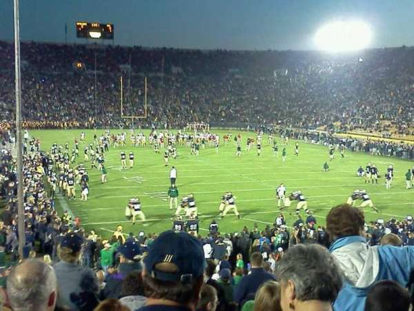 Notre Dame Stadium, section: 3, row: 31, seat: 1