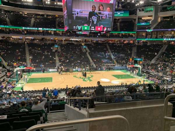 Fiserv Forum, section: 107, row: 24, seat: 2