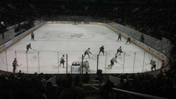 SAP Center, section: 123, row: 20, seat: 1