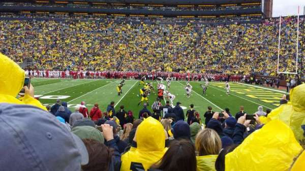Michigan Stadium, section: 20, row: 8, seat: 5