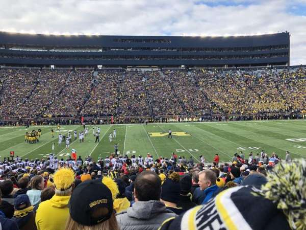 Michigan stadium, section: 2, row: 27, seat: 17