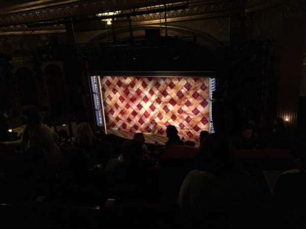 Brooks Atkinson Theatre, section: Rear Mezzanine R, row: K, seat: 14