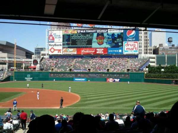 Progressive Field, section: 138, row: FF, seat: 10