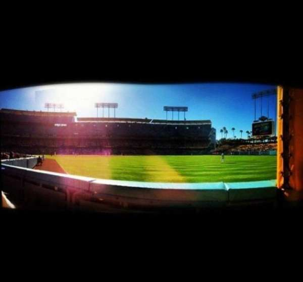 Dodger Stadium, section: Prefered Field Level, row: B, seat: 7