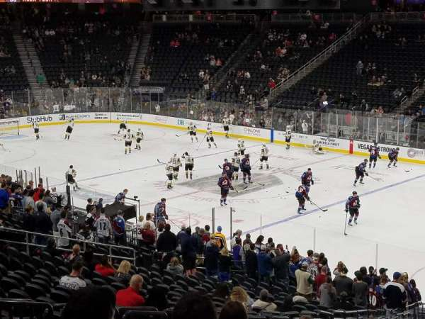 T-Mobile Arena, section: 8, row: Y, seat: 6