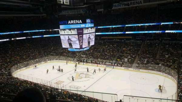 PPG Paints Arena, section: 217, row: B, seat: 2
