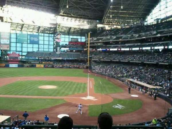 Miller Park, section: 222, row: 4, seat: 4