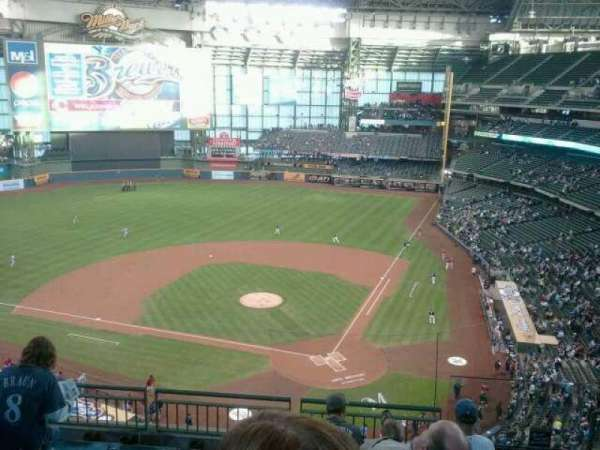 Miller Park, section: 425, row:  6, seat:  2
