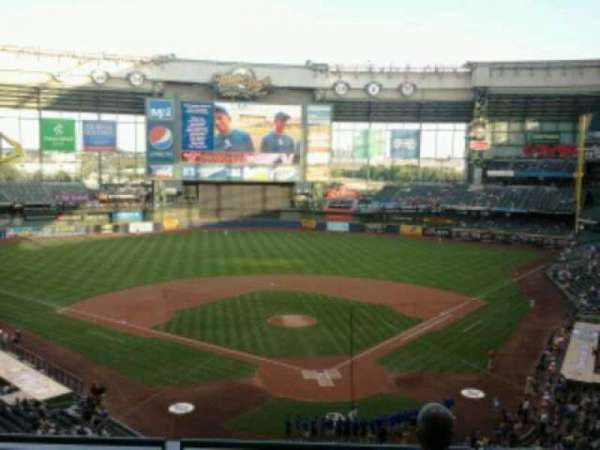 Miller Park, section: 331, row: 4, seat: 5