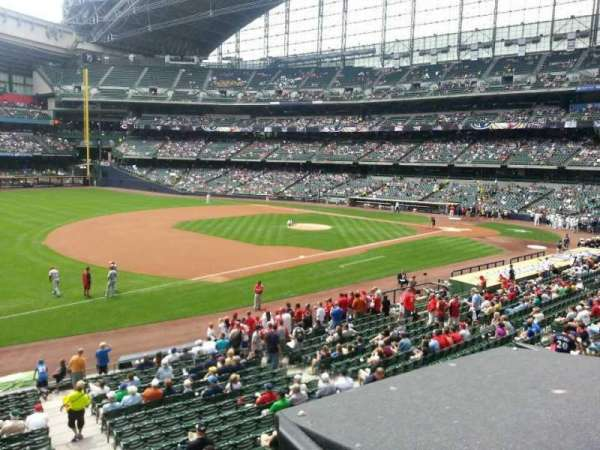 Miller Park, section: 228, row: 1, seat: 1