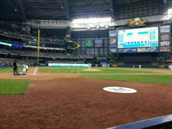 Miller Park, section: 115, row: 1, seat: 1