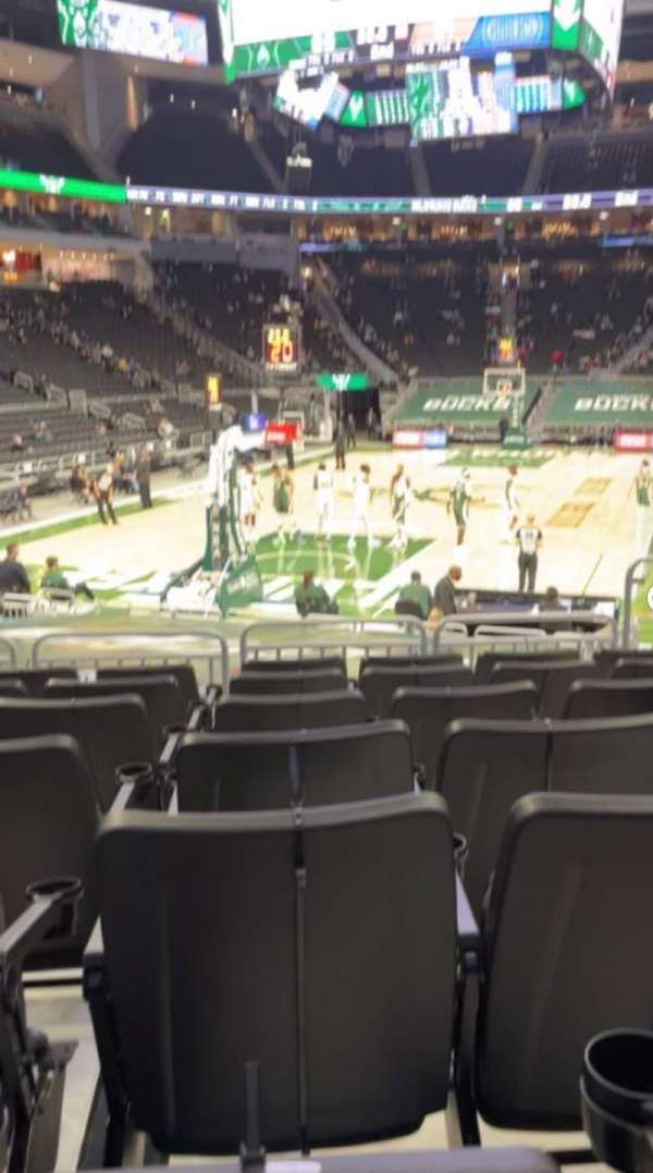 Fiserv Forum, section: 121, row: 11, seat: 6