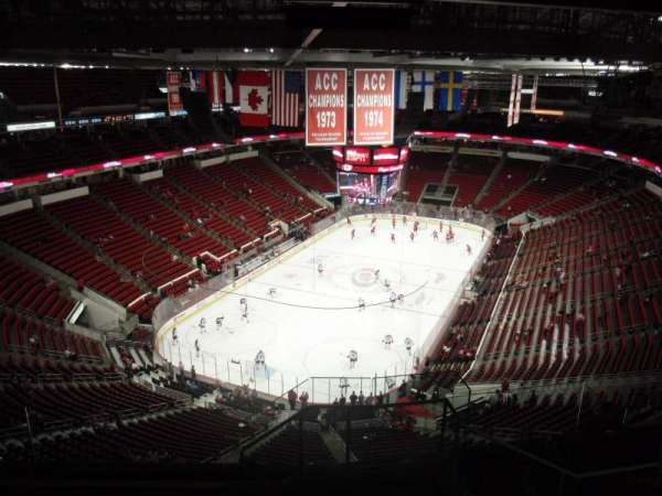 PNC Arena, section: 332, row: J, seat: 1