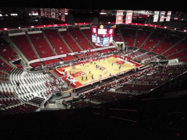 PNC Arena, section: 308, row: L, seat: 4