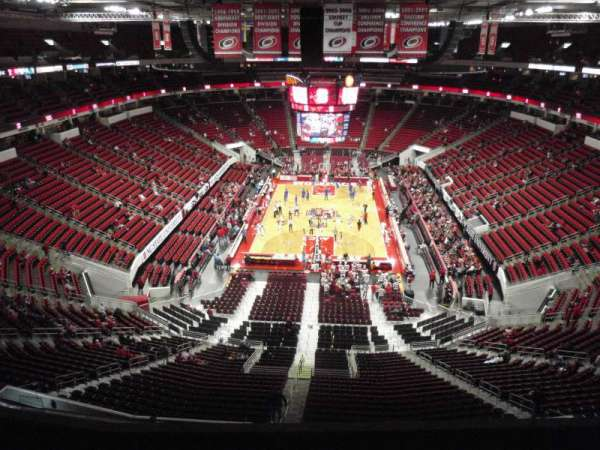 PNC Arena, section: 314, row: D, seat: 8