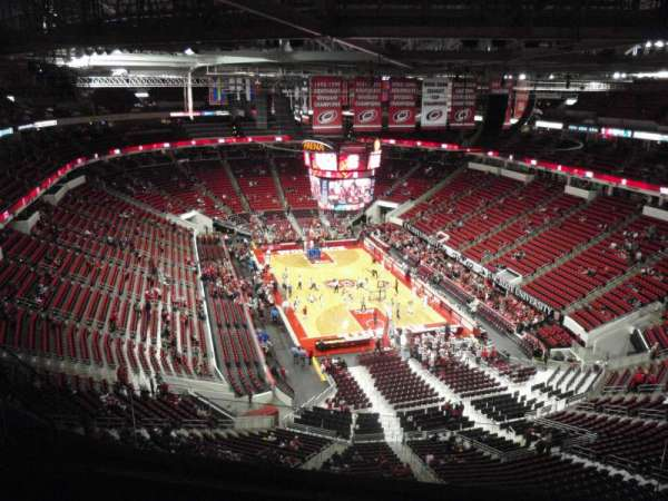 PNC Arena, section: 316, row: H, seat: 7