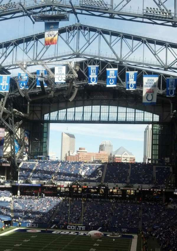 Lucas Oil Stadium, section: 424