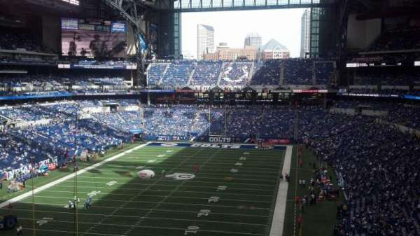 Lucas Oil Stadium, section: 424, row: 8, seat: 10