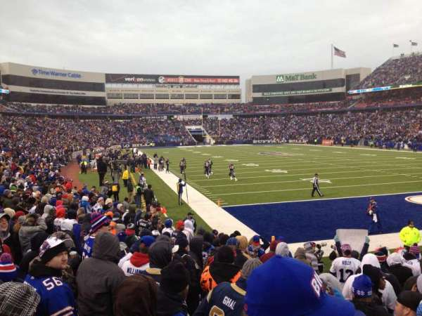 New Era Field, section: 104, row: 10, seat: 9