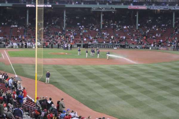 Fenway Park, section: Grandstand 4, row: 12, seat: 6
